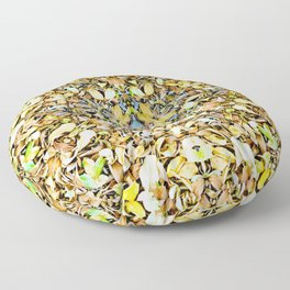 A Circle of Leaves Floor Pillow