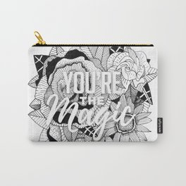 Hand Drawn Floral Typography Illustration Carry-All Pouch