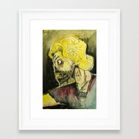 zombies Framed Art Prints featuring zombies by Marcelo O. Maffei
