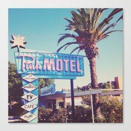 Pink Motel, Los Angeles, California Canvas Print