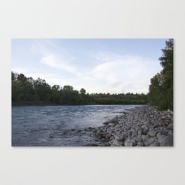 River Calgary Canvas Print