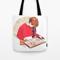 science Tote Bags featuring Science! by Salgood Sam