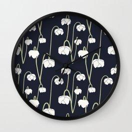 pitcher plant flower Wall Clock
