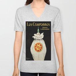 Vintage poster - Les Couronnes Unisex V-Neck