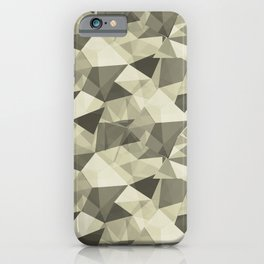 Abstract Geometrical Triangle Patterns 4 Natural Olive Green - Martinique Dawn - Asian Silk iPhone Case