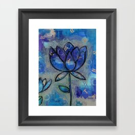Abstract - Lotus flower - Intuitive Framed Art Print