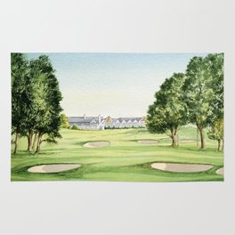 Southern Hills Golf Course 18th Hole Rug