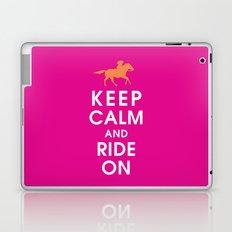 Keep Calm and Ride On (horseback) Laptop & iPad Skin