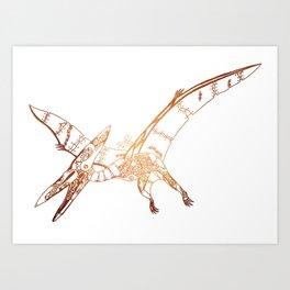 Steampunk Robot Pterodactyl Art Print