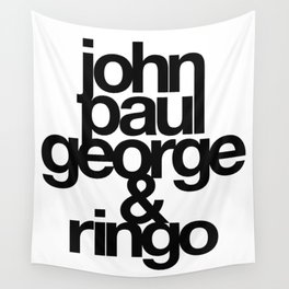 The Fab Four Wall Tapestry