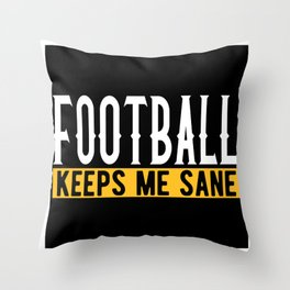 Soccer Lover Gift Idea Design Motif Throw Pillow