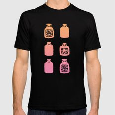 ROSE PERFUME BOTTLES - PEACH / PINK OMBRE Black MEDIUM Mens Fitted Tee
