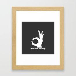 Rocket Bunny Framed Art Print