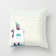 It's raining. Throw Pillow