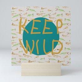 Keep Wild Beige Mini Art Print