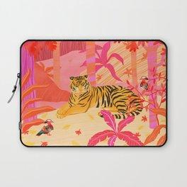 Tiger and Mandarin Ducks Laptop Sleeve