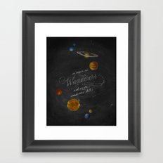 Wanderers - Carl Sagan Framed Art Print