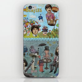 Lonely Hearts, Rubber Soul & Magical Yellow Submarine Tour iPhone Skin