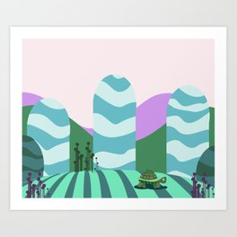 Turtle kawai Art Print
