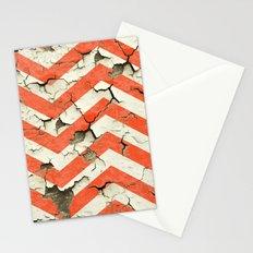 Peeling Chevrons Orange Stationery Cards