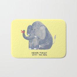 Elephant never forgets Bath Mat