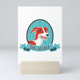 English Greyhound Dog Mama Mini Art Print