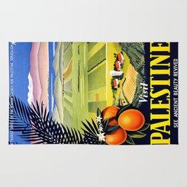 Palestine, vintage travel poster Rug