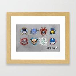 80's Evil Framed Art Print