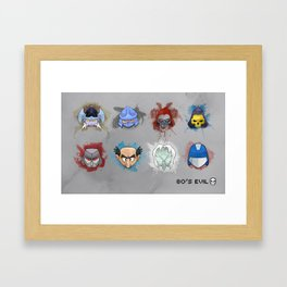 80's Evil Framed Art Print