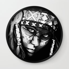 Native American Girl Wall Clock