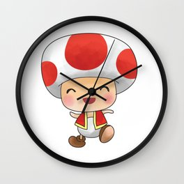 Red mushroom Plumber's collection Wall Clock