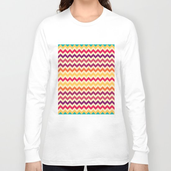 Colorful Chevron Pattern II Long Sleeve T-shirt