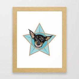 Min-Pin Framed Art Print