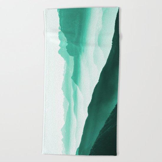Creamy Mountains Beach Towel