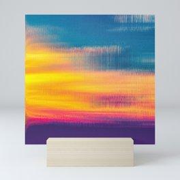 Glitch Glow Mini Art Print