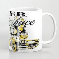 poker Mugs featuring Poker face by Tshirt-Factory