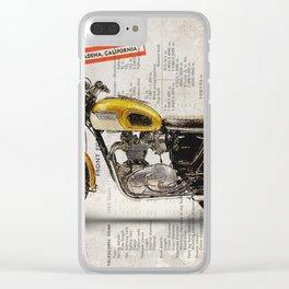 Triumph Bonneville T120 1964 Clear iPhone Case