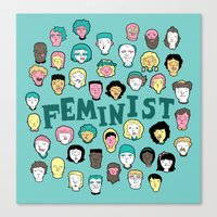 feminist Canvas Prints featuring Feminist by F-ordet