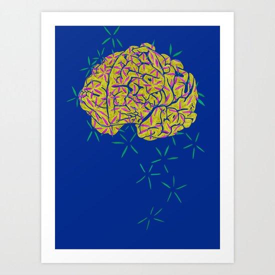 Floral Brain Art Print
