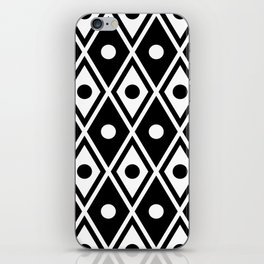 Harlequin Pattern Black & White iPhone Skin