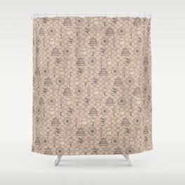 Retro asian pattern Shower Curtain