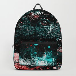 guinea pig colorful side portrait ws2s Backpack
