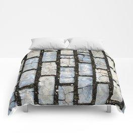 Blue Street Grid Comforters