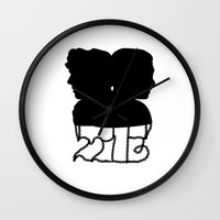 221b Wall Clocks featuring 221B by Jessica May