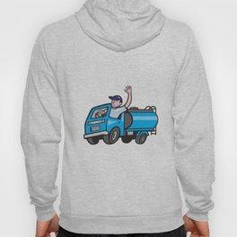 Baby Tanker Truck Driver Waving Cartoon Hoody