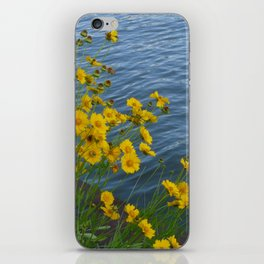 Yellow Flowers by the Water iPhone Skin