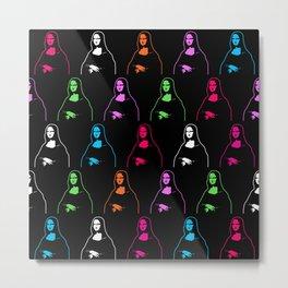 Mona Lisa Pattern | Pop Art Metal Print