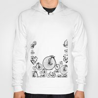 bicycle Hoodies featuring Bicycle by mark ashkenazi