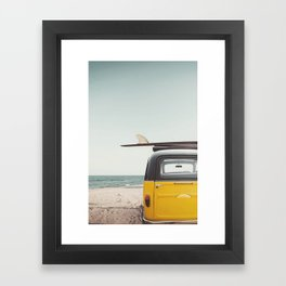 Surfing time Framed Art Print