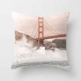Baker Beach California Throw Pillow
